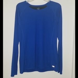 Blue C9 Champion Long Sleeved Athletic Shirt